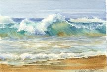water colour seascapes 2