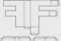 3d letters templates nets