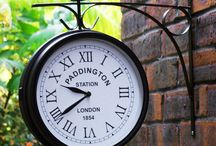 Outdoor Wall Clock Double Sided Garden Home Furniture Outside Clocks Decor House
