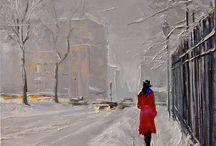 kar ve yağmur manzarası