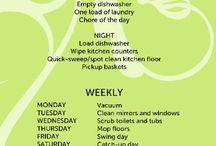 cleaning chart  / by Sue Sanders