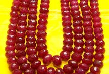 Red Ruby Necklace Strings / This is a collection of Lovely Ruby Beads String Necklace