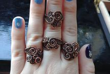 Rings wire wrapped