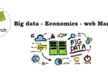 Big data / Infographics and images about large volume of data, structured and unstructured, useful for online marketing.