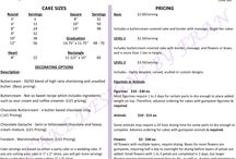 Cake Pricing / Prices for Cakes / by Frances Gill