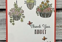 Hanging Garden / Cards created by Kylie from Stampers Workshop using the Hanging Garden stamp set by Stampin' Up!