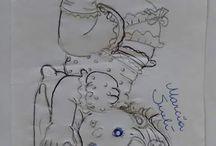 pinturas bonecas e bebes