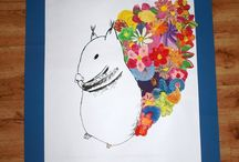 Jaro - Spring / Výtvory dětí z prvního stupně a školní družiny.  Printable, art, elementary school, children, painting, coloring