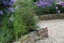 stones into garden