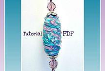 FIMO nápady - imitace skla, lampových korálků (faux glass, lampwork beads)