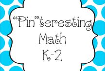 """Pin""teresting Math K-2 / by Hanging Out In First"