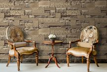 Home Decor WallPaper / Faux effects wallpapers authentically create a new identity for your walls. From rustic wood panel wallpaper to loft-style exposed brick wall wallpapers