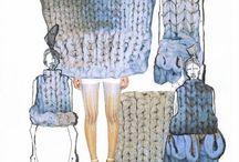 knitwear fashion scketch & projet