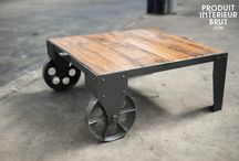 Metal & Wood furnishings / beautiful pieces made with a combination of wood and metal that are sure to give your home the perfect vintage industrial feel.