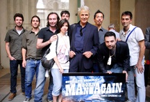 MBA Première in Florence  / MEET YOUR HERO  Our definition of comics expands pretty wide to include the materialization of our hero and his friends. Yes, this happened in Florence on September 2012 at the launch of  Man Born Again. Giuliano Gemma, the Italian worldwide known actor, agreed some months ago to portray/being portrayed as Jaxon Cage, the hero of our story.  In the picturesque setting of the renaissance Palace Medici Riccardi, the Eclypsed World Team introduced to the public #ManBornAgain, the #GraphicNovel