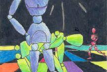 çizim robotuyla renk kompozisyonları
