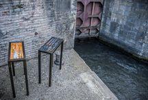 Mobilier - Marqueterie de Paille / Mobilier, meuble d'art, marqueterie, marqueterie de paille structure métal