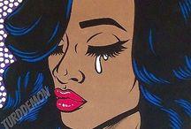 Black pop art