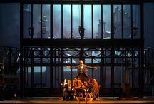 """MES PROD: LA BOHÈME / J'ai eu l'occasion de créer 4 productions de """" La Bohème """"Tout en gardant la ligne directrice qui m'est chère il y a eu une grande évolution dans le décor jusqu'au dernier qui est unique mais avec des variations."""