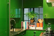Spaces.Kitchens | Colorful + Classic