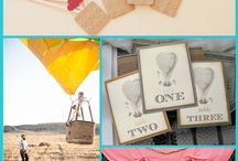 Hot Air Balloon Wedding / Come fly away with me!  A great collection of original styled weddings with hot air balloons.