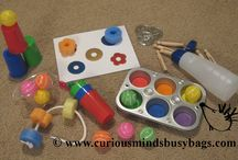 Busy Box/ Busy Bag - small/semi portable activities / by Katie McBride