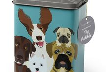 Pet Lovers / Fun colourful storage tins and food bowls for your pets