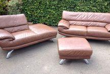 Milano Italian brown leather DFS / 70's style Italian