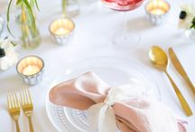 Wedding theme: rose quartz and gold / Work 2016's Pantone colour of the year into your wedding decor with pretty pink and gold details