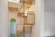 Indoor Staircase Design / Ideas and references for the development of our interiors projects. Wood, Iron and concrete