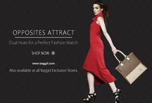 Look Chic with dual-toned Baggit's Opposites Attract Collection! / Look chic with two contrasting hues as Baggit brings to you the Opposites Attract Collection. Inspired by the beauty that comes from fabulous complementing colors, structured silhouettes and armor-like tailoring; this range has bags in dynamic styles and distinctive dual-toned colors that are combined to create perfect Fashion Matches. Mix and match these beauties to create stunning looks. Girls, to look your fashion best, visit our Exclusive stores and www.baggit.com