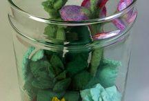 needlefelted Succulent Plant Terrarium