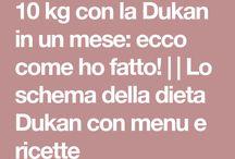 dieta con programma Dunkan