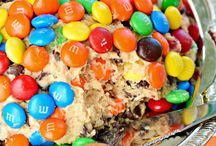 Monster cookie cheese ball