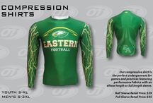 COMPRESSION APPAREL / OT has two pieces of compression apparel: short sleeve and long sleeve, both with the same body construction.