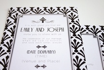 Old Hollywood wedding stationery by the Invitation Gallery / Wedding stationery with an old Hollywood feel, taking inspiration from the 1920's. Available on the Invitation Gallery