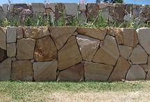 Sandstone wall