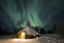 Northern lights in Lapland / Northern lights in Rovaniemi in Lapland, Finland viewew by Arctic Snowhotel. Especially our glass igloo are an ideal place to observe aurora borealis