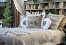 Decor: GRAIN SACKS / by Donna - Funky Junk Interiors