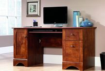 Desks with File Cabinet Drawers for Home Offices / For small offices and small-er budgets, desks with file drawers built right in make faves!