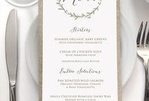 Convites, menus e outros artigos de papelaria para casamentos