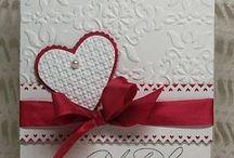 Valentine / Red,white and robbon