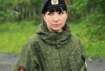 Women serving in the army and the police / Женщины, служащие в армии России и полиции