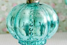 Turquoise Christmas Ornaments