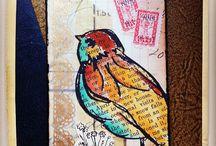 Dina Wakley - scribbly birds