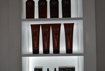 Barber shop display cabinets  & retail products