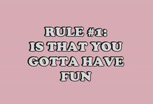 RULES FOR ME
