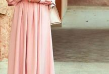 pregnant dress hijab peach