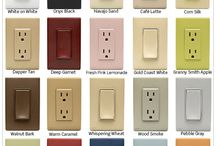 Colorful Electrical Devices & Wallplates / Change your electrical devices with your ever changing style. No rewiring or electrician needed for these colorful devices and plates!