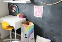 Hallie's big kid room makeover / This board shows my daughter's room makeover and features makers from all over the world! A eclectic, modern, Scandinavian whimsical makeover any 9 year older (or older) would love!